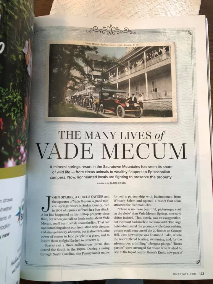 Our State Magazine article